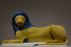 Lion (charlottes flowers) Tags: godsincolor polychromaintheancientworld palaceoflegionofhonor famsf museum exhibit lion sonyflickraward explorejan2018