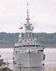 HMCS TORONTO Ready to Lock Through (Roger Litwiller -Author/Artist) Tags: hmcstoronto cpf canadianpatrolfrigate stlawrenceriver stlawrenceseaway rogerlitwillercollection iroquoislock rcn royalcanadiannavy