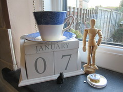 Sunday, 7th, Time for tea IMG_1579 (tomylees) Tags: calendar perpetual cup saucer essex morning winter january 2018 7th sunday