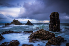 Fantastically Fractured (Augmented Reality Images (Getty Contributor)) Tags: longexposure water coastline scotland seastack littlestopper landscape nisifilters waves rocks morayfirth portsoy canon seascape clouds unitedkingdom gb