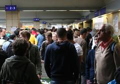 Zusammenstehen - Standing Together (Wolfgang Bazer) Tags: westbahnhof 5 sepember 2015 monster unmensch orban sebasian kurz openig borders hungarian hell ungarische hölle österreich austria ungarn