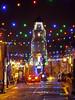 Penryn Lights 2 (Cornishcarolin. Thank you for over 2 Million Views) Tags: cornwall penryn town christmaslights evening rain clock clocktower tower building architecture