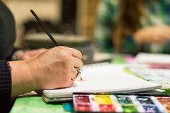 En la escuela de arte. (Evaldes@) Tags: acuarela watercolor arte