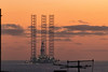 Oil Rig Exiting River Tay (Kris Black) Tags: oil rig exiting river tay tayport dundee sky orange gold sun sunrise ray boat canon 70300mm 300mm