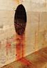 Rust coulure (zuhmha) Tags: marseille france line lignes courbes curve geometry géométrie rouille rust orange mur wall fence grille grillage barrière tag graf texte text écriture mot word letter lettre