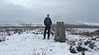 49 of 52 trig points (Ron Layters) Tags: 2017 ronlayters selfportrait 52trigpoints birchenedge trigpoint winter cold snow frozen moorland moor badweather hat bracken heather landscape pillar tp1376 fbs2154 peakdistrict peakdistrictnationalpark baslow derbyshire england unitedkingdom 52weeks 52 phonecamera iphone apple appleiphone6 selftimer tripod 10secondtimer weekfortynine week49 49