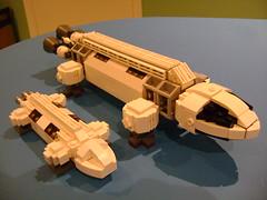 WIP Space 1999 Eagle (tekmoc17) Tags: lego custom moc eagle space 1999 tv show brick spaceship moonbase alpha
