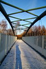 Me and my Shadow (Paul Bagshaw ---- UK) Tags: bridge snow frost shadow winter walking nature trees footprints