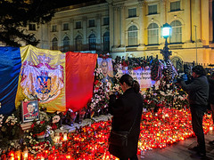 this evening (plitch) Tags: king michael i national mourning bucharest romania royal palace