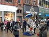 Manchester Street Entertainers (deltrems) Tags: manchester street entertainers market buskers