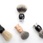 metal, resin and wood handle shaving brushes thumbnail