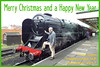 Xmas 2017 Loughborough (Steve Guess) Tags: xmas card great central railway loughborough leciestershire england gb uk gcr british railways 9f standard steam locomotive 2100