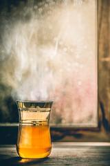 Tea and rain (Ro Cafe) Tags: stilllife drops rain tea window bokeh winter homely cozy steam rustic table wood nikkormicro105f28 nikond600