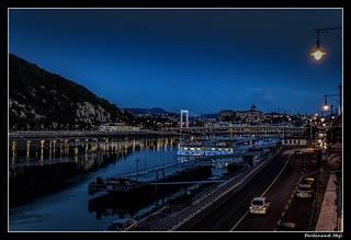 Budapest_Erzsébet híd_Elisabeth Bridge_Budapest Kastély_Duna_Danube_Budapest Castle_Magyarország_Hungary