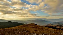 Goodbye 2017 (mttdlp) Tags: montagna mountain trekking hiking clouds sky rocks rocce ferriere blue green sun landscape italia piacenza nikon d3200 perspective happynewyear newyear 2017 2018 red white