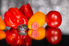 HMM - Kitchen - Buttons and Bokeh (Normann Photography) Tags: 20181 habanero macromondays redux2017october2memberschoicefoundinthekitchen yellow fruits orange peppers red redhotchilipeppers tomato vegetables