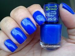 Letícia (5cinco) (katiaemanias) Tags: 5cinco azul katiaemanias cremoso esmalte esmaltes unhas unha