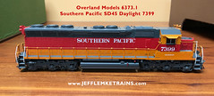 OMI 6373 1 SP SD45 Daylight 7399 (Twin Ports Rail History) Tags: jeff lemke trains inc brass model train service pro professional custom painting repairs weathering railway railroad paint ho scale omi overland models southern pacific emd sd45 diesel locomotive painted ajin precision manufacturing company