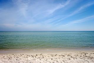 Sandy beach in Hel