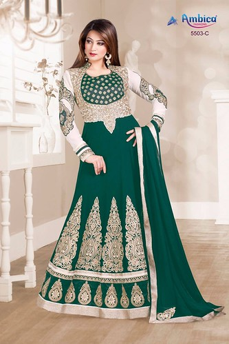 2eec474960 AMBICA 5503 COLORS BY AMBICA FASHIONS 5503-A TO 5503-E SERIES BOLLYWOOD  BEAUTIFUL