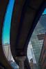 Flyover, Walk under (www.yabberdab.com) Tags: dlr london england canarywharf cityscape