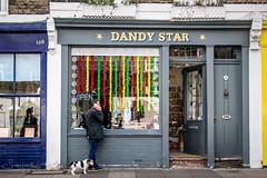 20171028-DSCF3097 Dandy Star (susi luard 2012) Tags: rpscelebratinglondon mexicandayofthedead columbia e2 dandy dog london road shop star uk