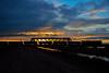 Nightfall (whosoever2) Tags: england unitedkingdom uk gb greatbritain nikon d7100 december 2017 railway railroad train freightliner class66 66603 6m51 hyndredfootdrain newbedfordriver fens cambridgeshire sunset dusk winter sky cloud