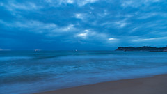 Dawn Seascape (Merrillie) Tags: daybreak landscape nature dawn mountains rocks eurobodallashire maluabay newsouthwales sea water sun batemansbay beach ocean nsw australia waterscape coastal island scenery seascape sunrise coast southcoast clouds