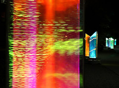 Celebrate the New Year! (studioferullo) Tags: abstract art beauty bright colorful colourful colors colours contrast dark design detail downtown edge light minimalism outdoor outside perspective pattern pretty scene study texture tone world arizona scottsdale waterfront canal prismatica sculpture prism rainbow glass night