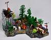A Hopeful Bargain of Mead 1 (mrcp6d) Tags: lego castle crusaders forestmen wagon knight trees watchtower cccxv