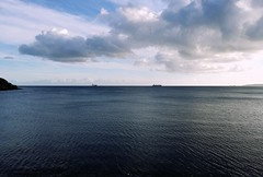 out to sea (j86creative) Tags: sea boat ship falmouth sky blue water clouds