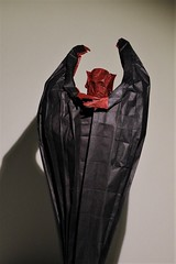 IOIO 2017 - Big Demon 3 (Tankoda) Tags: ioio 2017 big demon hubert villeneuve travis nolan origami art paper double tissue with mc methyl cellulose methylcellulose black red devil monster shadows natural color change internation internet olympiad