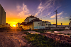Moura train station 813 (_Rjc9666_) Tags: abandoned alentejo arquitectura colors flowers moura nature nikond5100 old portugal remains sky tokina1224dx2 tourismo trainstation travel urbanphotography ruins tourism ©ruijorge9666 sunset 2010 813