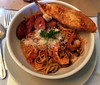 Mardi Gras Pasta (Midnight Believer) Tags: phoenixarizona pasta food supper restaurant meal sausage table dining americansouthwest pappadeauxseafoodkitchen