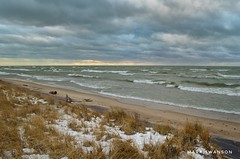West Wind (mswan777) Tags: 1855mm nikkor d5100 nikon stevensville lakemichigan scenic nature outdoor sky cloud grass sand beach coast shore seascape weather wind wave water sunset evening