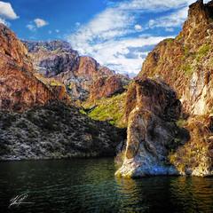 Canyon Lake II (gol4tom) Tags: lake saguaro rock•formations arizona•winter apachetrail wow artofimages wowl2 wowl3 pinnaclephotography