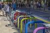 ZARAGOZA Street. Bicycle Parking (Pedro Ruiz L) Tags: streetphotography fotocallejera plaza reflejos urbana gente zaragoza vida life turist bicycle bicicleta aparcamiento parking
