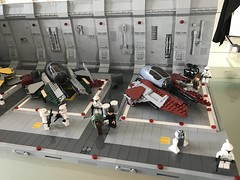 LEGO® Star Wars: Interceptor Starfighter Hangar 2.0 - 06 (jm_aalen) Tags: lego® moc afollu star wars starwars greebles starfighter space spaceship nurbies republic cockpit widget battle gunship interceptor hangar eta2 actis