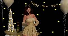 HAPPY NEW YEAR !! (Luckii's Charms) Tags: newyeareve festivepics secondlife 2ndlife slblog slblogger addams littlebones eudora3d chezmoi newblog dahlia