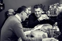 Armando e Paolo (http://www.guidogavazzi.it/englishome.html) Tags: friends conversation dinner blackwhite