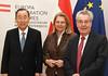Außenministerin Kneissl trifft ehem. VN-GS Ban Ki Moon sowie Altbundespräsidenten Dr. Heinz Fischer (Österreichisches Außenministerium) Tags: karin kneissl ban ki moon fischer vienna austria aussenministerin