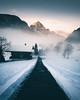 Foggy Morning (noberson) Tags: switzerland mist morning gstaad saanen fog foggy sunrise mountain mountains alps nikon