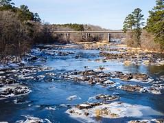 Icy River (cwhitted) Tags: northcarolina unitedstates us bynum bynumbridge chathamcounty hawriver canon eos canoneos6d canonef50mmf18 canonef50mmf18stm
