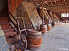 Tools of the Wine Trade (The Bop) Tags: barrels carts stone walls stairs ladders windows concrete floor