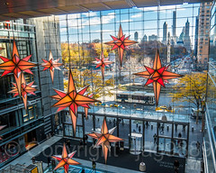 """Holiday under the Stars"" Display, Time Warner Center, New York City (jag9889) Tags: 2017 20171201 59thstreet aerialview architecture building bus christmas christophercolumbus columbuscircle decoration display entrance holiday house indoor lightfixture manhattan midtown monument ny nyc newyork newyorkcity outdoor people skyscraper star statue taxi text timewarnercenter transportation tree usa unitedstates unitedstatesofamerica window yellowcab jag9889 theshopsatcolumbuscircle"