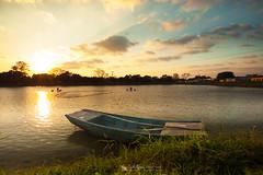 大生圍 (猫之瑪姫) Tags: 大生圍 landscape nikon countryside hongkong boat reflection taisangwai 日落 sunset sunlight 魚塘 元朗 fishpond yuenlong