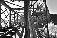 Misa ATO Photography Structure métallique Anduze FRANCEDSC2673 (misaato) Tags: misaato misaatophotography blackandwhite blackartwhite blancetnoir blanc black hiveminer whiteandblack white shadows shot anduze bw best metal bridge brillant ombres world water award nikonflickraward noiretblanc nikon nb nationalgéographic noir new albnegru architecture art france photo photographie photography pont pinterest bn bandw cevennes eau flickr flickrose flickriver train grey gris gardon gard géométrie lignes lumière linescurves lines languedoc noiir ombre monochrome hydraulique river rivière structure roussillon topographics time15 contrast contraste