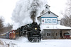 The Pere Marquette 1225 âNorth Pole Expressâ passes Carland (Craig - S) Tags: peremarquette polarexpress snow train travel winter peremarquette1225 northpoleexpress pm1225 steamrailroadinginstitute owosso michigan ashley countrychristmas steamlocomotive peremarquetterailway limalocomotiveworks greatlakecentralrailroad snowing steam coal smoke carlandelevator tourism