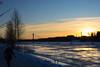 Kolbäcksbron i solnedgång (viktor.bostrom) Tags: is ice snö snow winter vinter bro bridge river älv tree träd sunset solnedgång umeå cold kallt