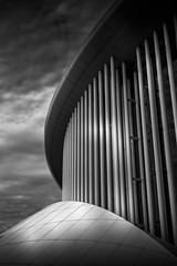 Philharmonie Luxembourg (lja_photo) Tags: luxembourg philharmonie concert hall city philharmonic orchestra architecture architectural art clouds contrast cityscape closeup sky street streetphotography black blackandwhite bw bnw blackandwhitephoto building buildings structure curves monochrome monotone monoart moody blackandwhitephotography natural light landmark kirchberg history outdoors photography lines
